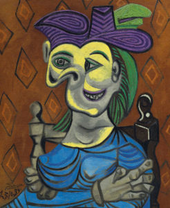pablo-picasso_femme-assise-robe-bleue