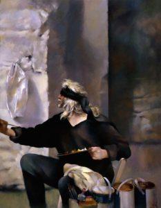 robert-lenkiewicz_self-portrait-blindfolded