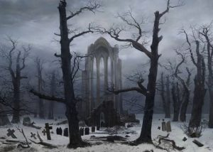 caspar-david-friedrich_monastery graveyard in the snow-1817-19
