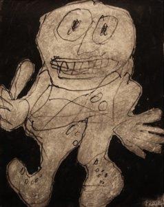Jean Dubuffet, Pouce-érigé, (Erect Thumb), 1961