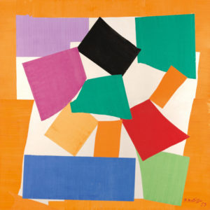 The Snail (L'Escargot), 1953 Gouache on paper, cut and pasted, on paper, mounted on canvas, 286.4 x 287 cm by Henri Matisse