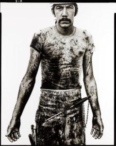 Blue Cloud Wright, slaughterhouse worker Omaha, Nebraska August 10, 1979 by Richard Avedon (1923-2004)