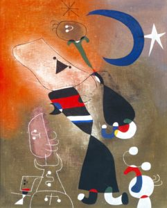 Women and Bird in the Moonlight, 1949 by Joan Miró