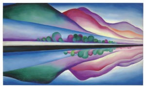 Lake George Reflection (circa 1921-1922) Oil on canvas 58 x 34 inches by Georgia O'Keeffe