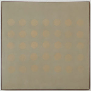 Buds, 1959 127 x 127 inches Oil on canvas by Agnes Martin
