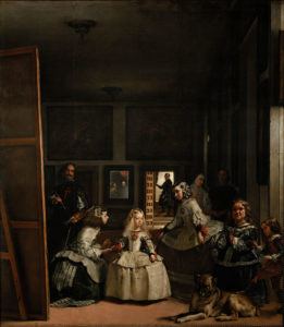 Las Meninas, 1656 Oil on canvas 10′ 5″ x 9′ 1″ by Diego Velázquez (1599-1660)