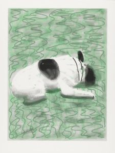 Moujik (2010) iPad drawing printed on paper, Edition of 25 94 x 71.1 cm by David Hockney (b.1937)