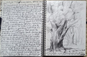 Notebook sketch by Samuel Adoquei (b.1962)