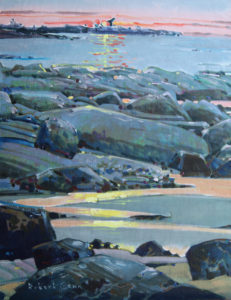 Low Tide, Langara Island 14 x 18 inches acrylic on canvas by Robert Genn