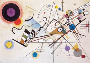 Composition VIII, 1923 oil on canvas 55.1 × 79.1 inches by Wassily Kandinsky