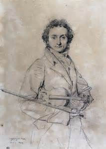 Nicolo Paganini by Jean Auguste Dominique Pencil, 298 x 218 mm Ingres1819
