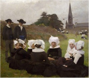 4Pascal Dagnan-Bouveret, Les Bretonnes au Pardon, 1887 49.3 in × 55.6 in oil on canvas