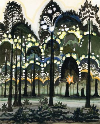 3_charles_burchfield_sunrise_in_the_forest_1917