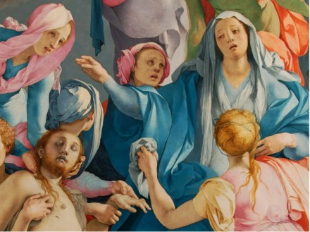 Detail of a painting by Pontormo in painters Tubes magazine