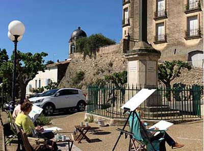painting en plein air art holiday in the south of France