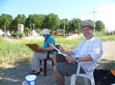 learn to paint in France, painting en plein air