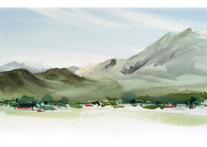 Montagu south africa - Simon Roberts - painting in france