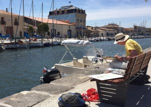 painting holiday - marseillan port france