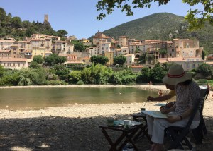 roquebrun painting holiday france