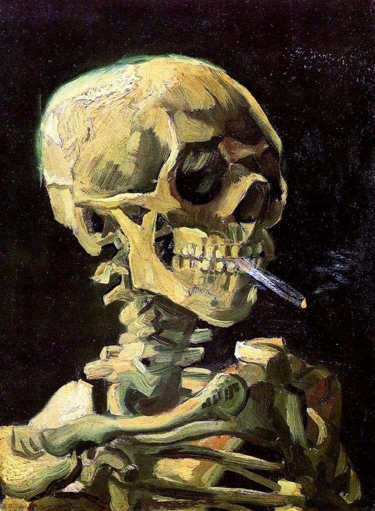 Vincent Van Gogh – Calavera con Quemador de Cigarrillos.