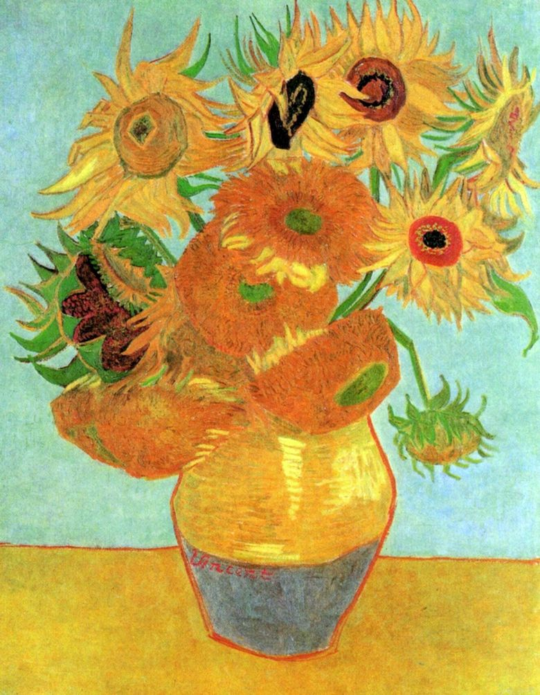Les Tournesols De Van Gogh : tournesols, Douze, Tournesols, Vincent, ❤️