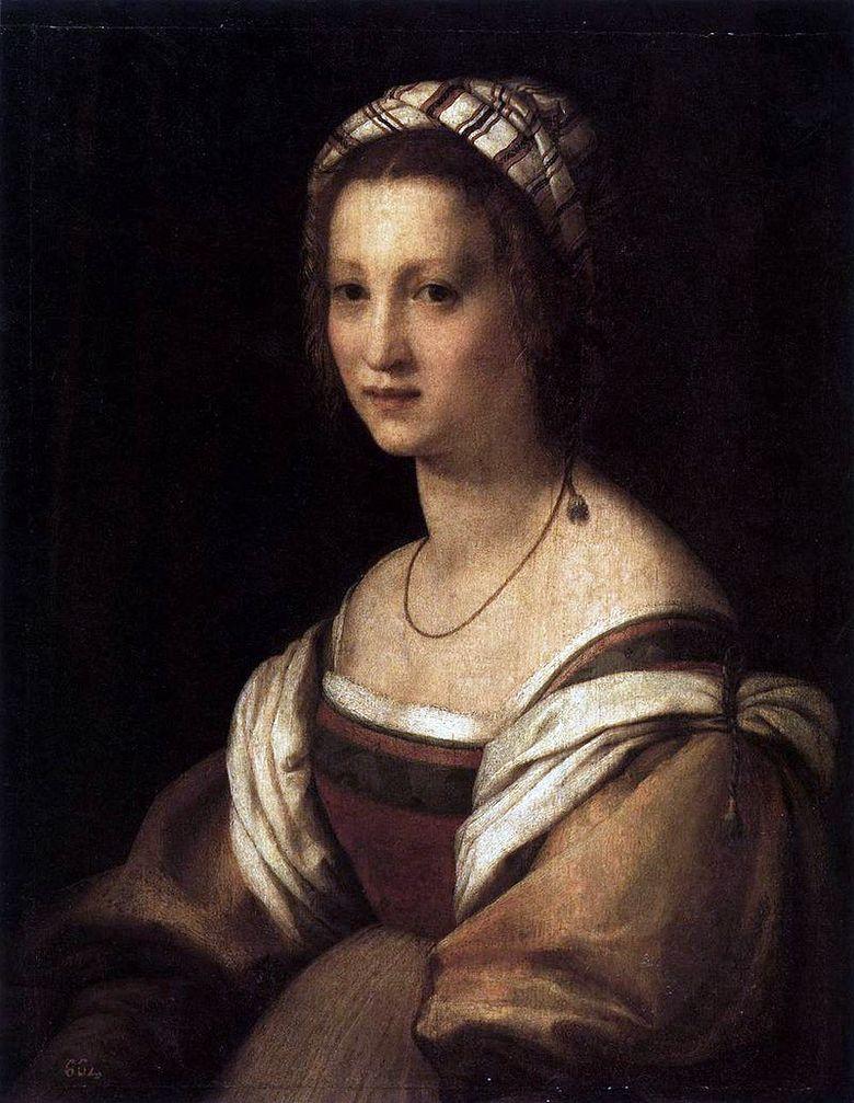 La Femme De L Artiste : femme, artiste, Portrait, Femme, L'artiste., Andrea, Sarto, ❤️