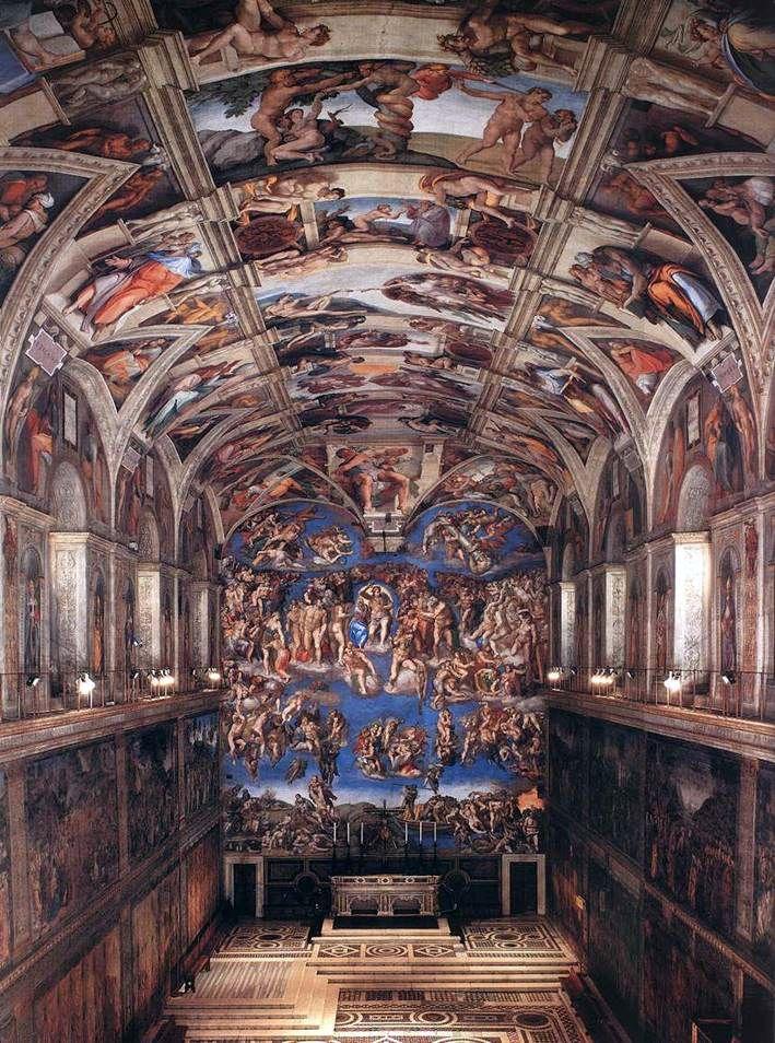 Le Plafond De La Chapelle Sixtine : plafond, chapelle, sixtine, Intérieur, Chapelle, Sixtine, Michelangelo, Buanarrotti, ❤️, Michel-Ange