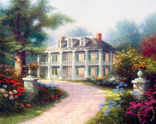 Homestead House Painting Thomas Kinkade Art Print
