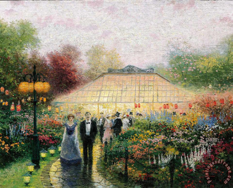 Thomas Kinkade The Garden Party painting  The Garden