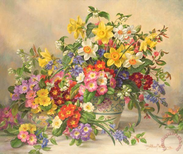 Albert Williams Painting Spring Flowers
