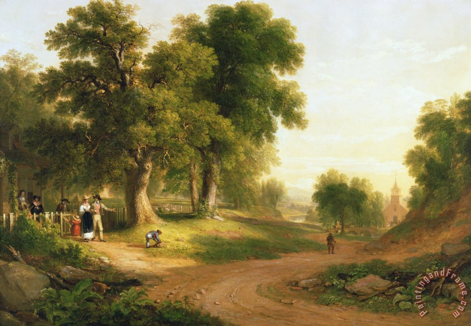 Asher Brown Durand Sunday Morning painting  Sunday