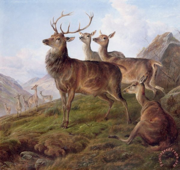 Landscape Paintings with Deer