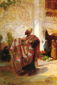 Charles Robertson The Carpet Seller painting - The Carpet ...