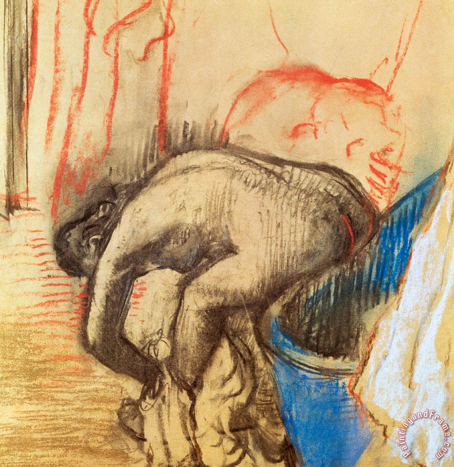 Edgar Degas After Bath painting  After Bath print for sale