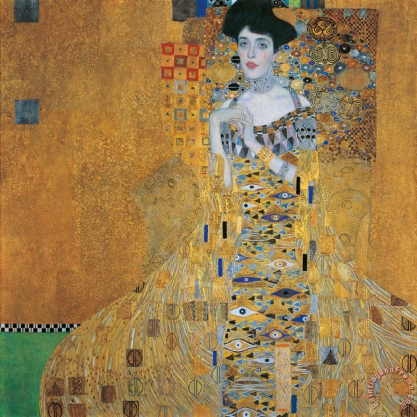 Gustav Klimt Painting Woman in Gold