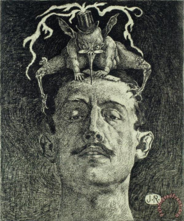 Julio Ruelas Criticism Painting - Print