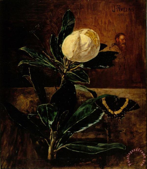 Julio Ruelas Magnolia Painting - Print