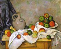 Paul Cezanne Curtain Jug And Bowl of Fruit 1893 1894 ...