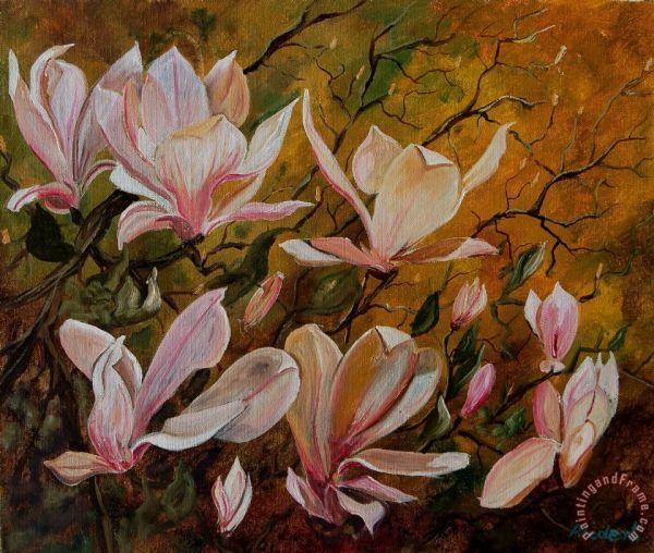 Pol Ledent Magnolias Painting - Print