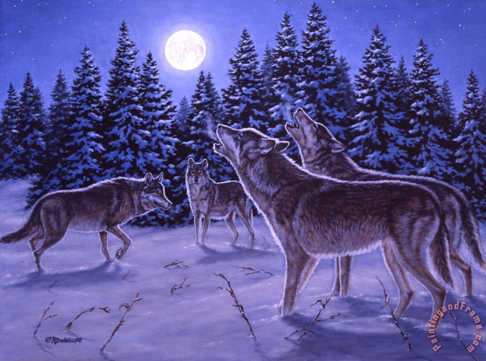 Richard De Wolfe The Howling Painting The Howling Print