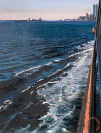 Richard Estes Staten Island Ferry with View of Manhattan