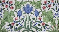 William Morris Floral Wallpaper Design with Tulips Art ...