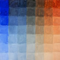 Cool and warm palette: ultramarine blue and burnt sienna chart.