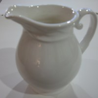 White pitcher: from drawing to painting, Part I