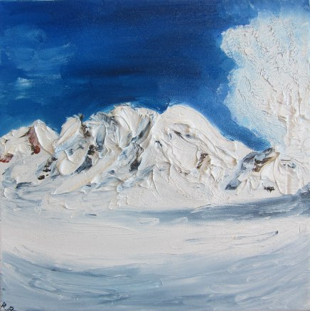 Winter - oil painting by Rona Barugahare