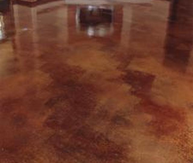 Stained Concrete Floor In Private Home