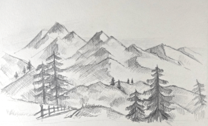 mountains draw mountain drawing beginners zeichnen tutorial easy step drawings berge zeichnung shares eine paint