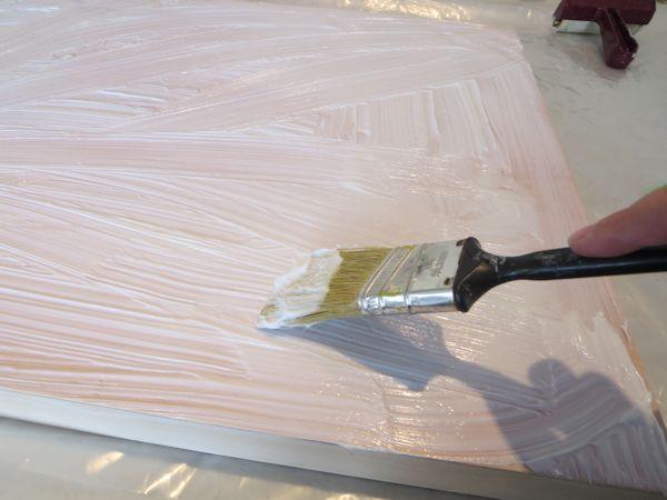 adding a layer of heavy body gel medium