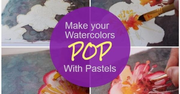 make your watercolors pop with pastels