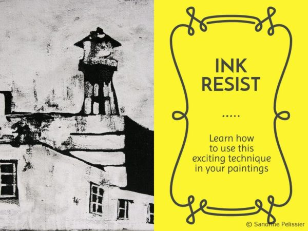 How to use the ink resist technique in your paintings.